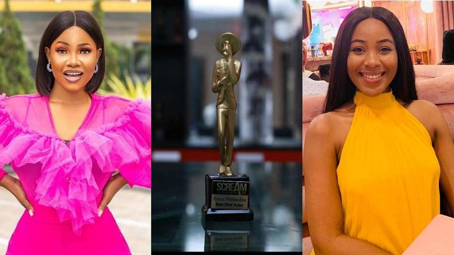 BBNaija: Tacha congratulates Erica on winning her first Scream Award for Best New Actor