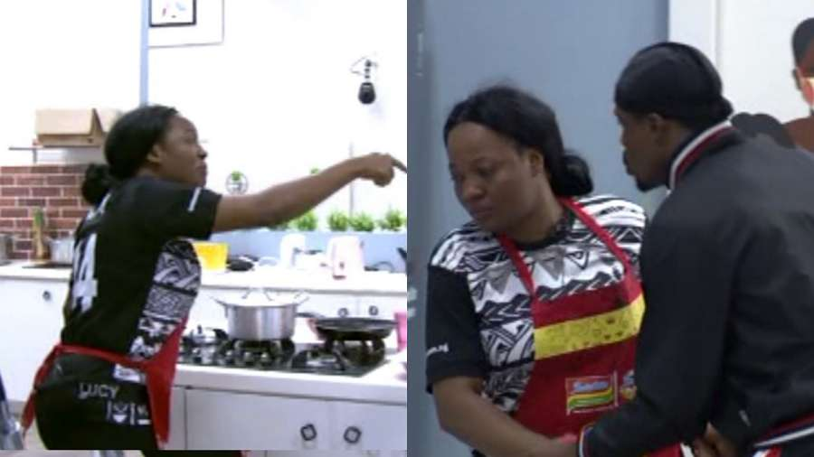 BBNaija: Lucy fights Brighto, blames him on her arena games loss (video)