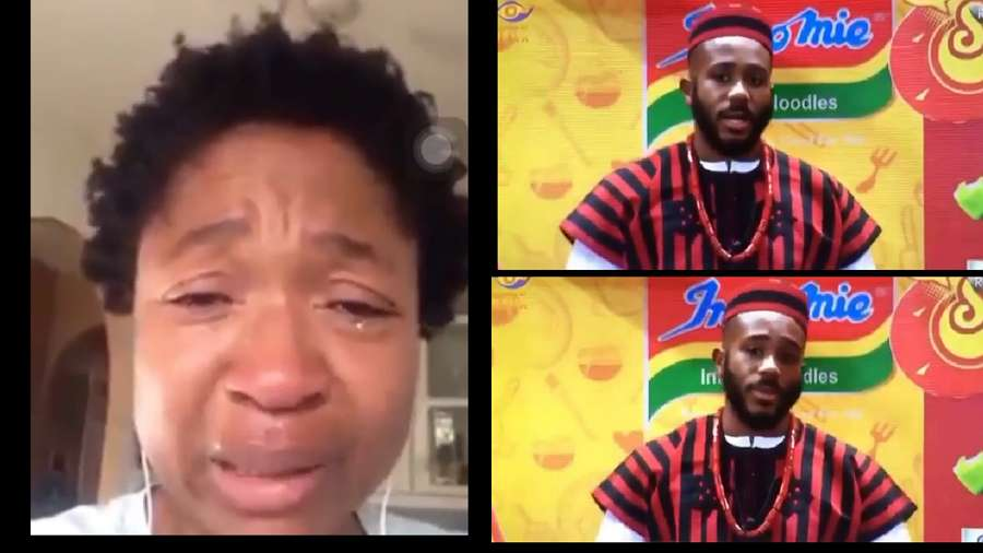BBNaija: Kiddwaya's mom feels emotional after watching her son's Indomie presentation