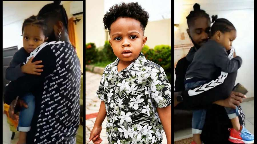BBNaija: Praise's son Jamie welcomes him first time in months