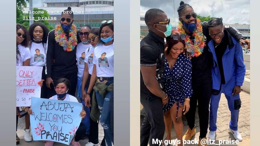 BBNaija: Fans host evicted Housemate Praise in Abuja