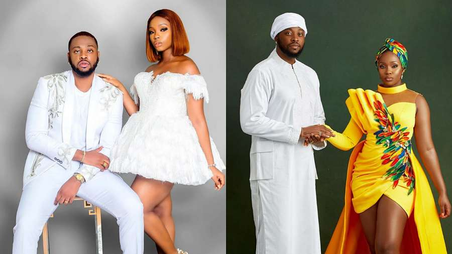 BBNaija: Teddy A and Bam Bam celebrate first marriage anniversary