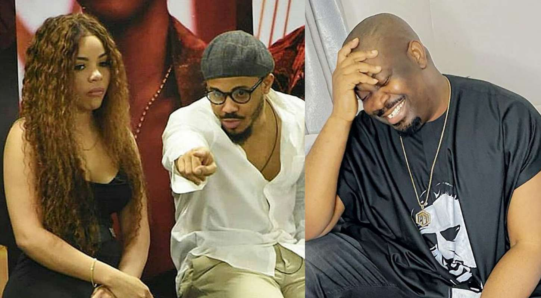 BBNaija: Don Jazzy mocks Ozo and Nengi's 'situationship'