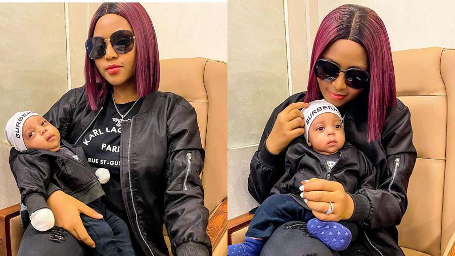 'Your son is your husband's carbon copy' – Fans tell Regina Daniels