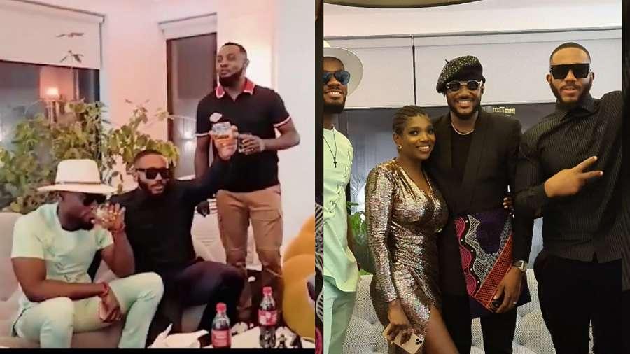 BBNaija: Kiddwaya, Prince, grace singer 2baba's birthday party (video)