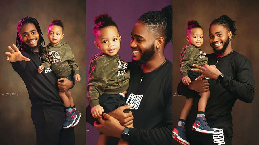 BBNaija: 'My happiness' – Praise calls his son as he floods internet with photos of them