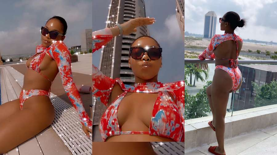 BBNaija: Lilo shows off assets in hot bikini (video)