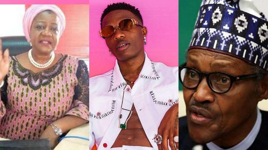 EndSARS: 'DumbKid not Wizkid' – Buhari's aide, Lauretta replies singer for calling her boss old man