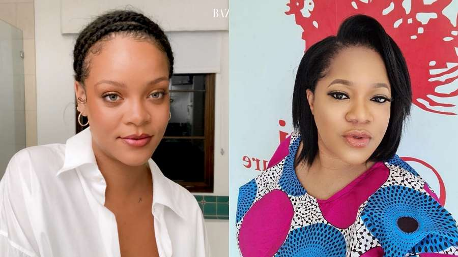Man attacks actress Toyin Abraham for calling out Rihanna over her silence on #EndSARS (video)