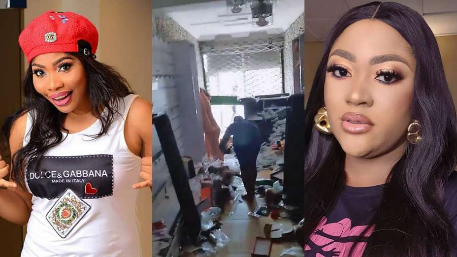 Actress Doris Ogala exposes colleague, Uche Elendu after she claimed ownership of shop vandalized by hoodlums