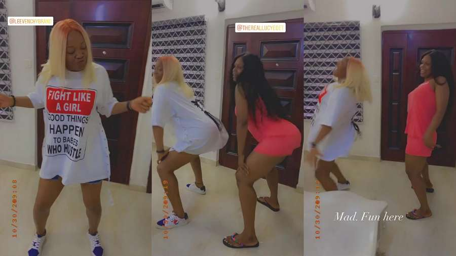 BBNaija stars Kaisha and Lucy learn to twerk (video)